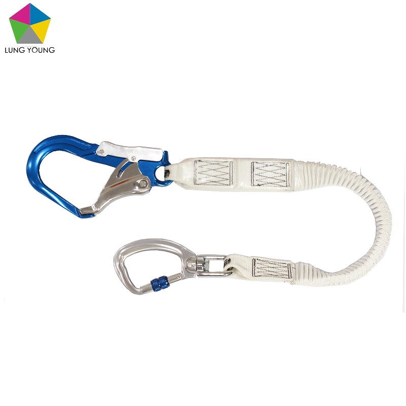Single Shock Absorbering Lanyard Aluminum Rebar Hook