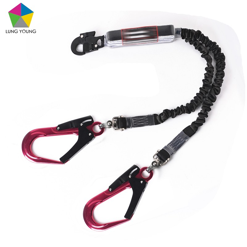 Bungetech™ Y-leg Shock Absorbing Lanyard Swivel Function