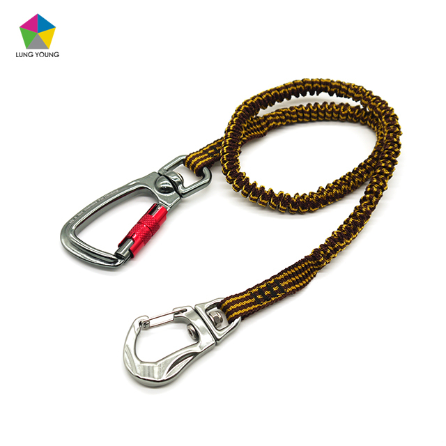 Stripe Color Contrast Design Tool Tether Aluminum Carabiner